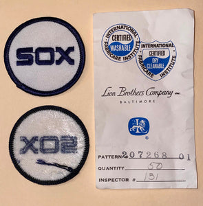 "1 VINTAGE CHICAGO WHITE SOX MLB BASEBALL 2""  BLUE EMBROIDERED CREST PATCH"