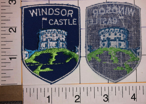 1 VINTAGE WINDSOR CASTLE ROYAL RESIDENCE BERKSHIRE TRAVEL TOURIST PATCH
