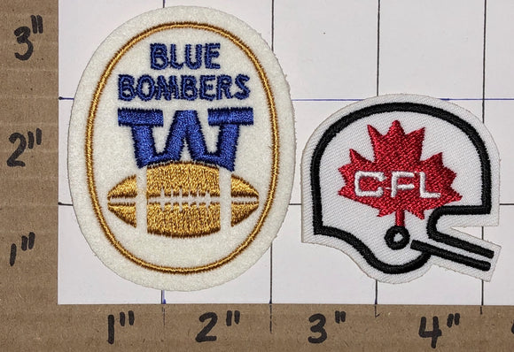 WINNIPEG BLUE BOMBERS CFL FOOTBALL CREST EMBLEM PATCH LOT