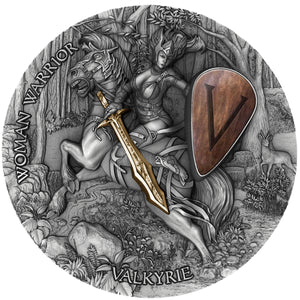 2020 Niue VALKYRIE - Woman Warrior Series 2oz Silver Antique Coin - RK