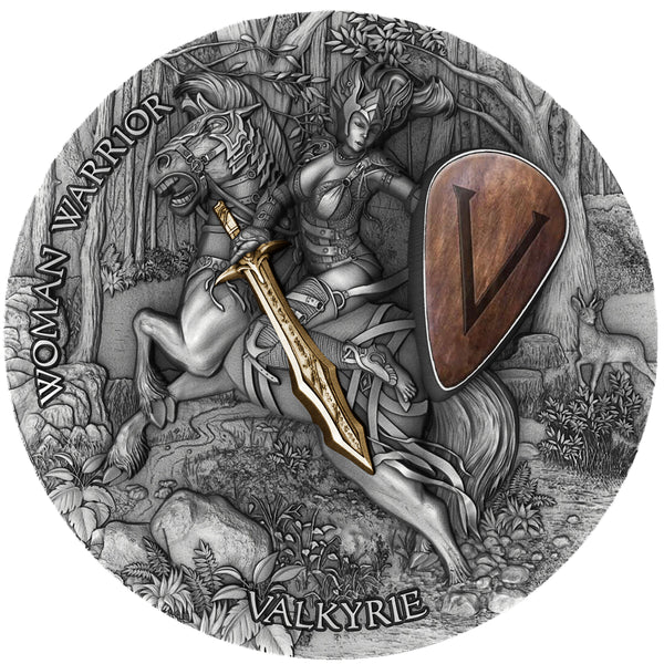 2020 Niue VALKYRIE - Woman Warrior Series 2oz Silver Antique Coin - RareKoin