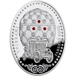 2012 Niue Coronation Faberge Egg Silver Proof Coin - RK