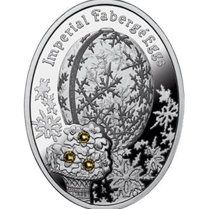 2012 Niue Winter Faberge Egg Silver Proof Coin - RK