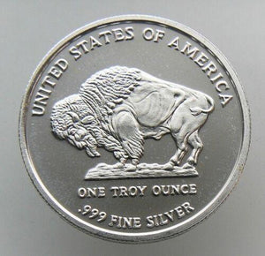 2013 Liberty Indian Head Buffalo BU 1 OZ .999 FINE SILVER ROUND - RareKoin