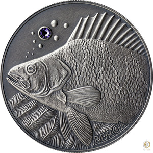 2014 Andorra FISH PERCH Atlas of Wildlife 1oz Silver Antique Coin - RareKoin