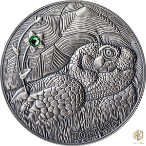 2014 Andorra POND TURTLE 1oz Silver Antique Coin - RK