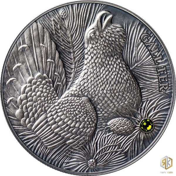 2014 Andorra WOOD GROUSE 1oz Silver Antique Coin - RareKoin