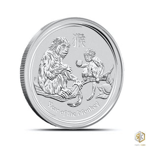 2016 Australia Year of the Monkey Perth Mint Lunar Series II 1/2 oz Silver coin - RareKoin