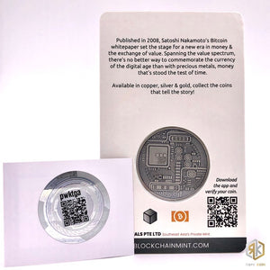 2018 BITCOIN 10th Anniversary Edition 1oz Silver Antique Coin - RareKoin