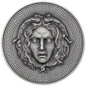 2019 Cameroon MEDUSA Diamond Eyes 3oz Silver Coin - RareKoin