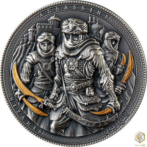 2019 Niue Island ASSASSINS Nizaris 2oz Silver Coin - RareKoin