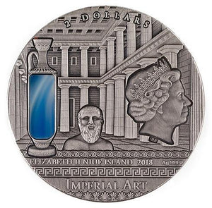 2019 Niue GREECE Imperial Art 2oz Silver Coin - RareKoin