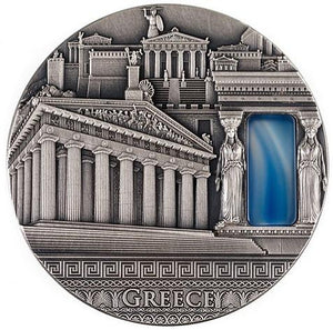 2019 Niue GREECE Imperial Art 2oz Silver Coin - RK