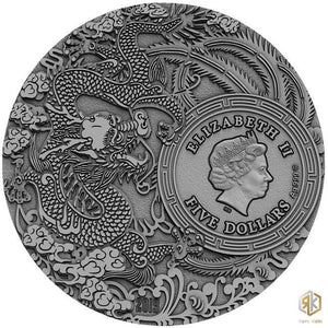 2020 Niue GUAN YU Chinese Heroes 2oz Silver Antique Coin - RK
