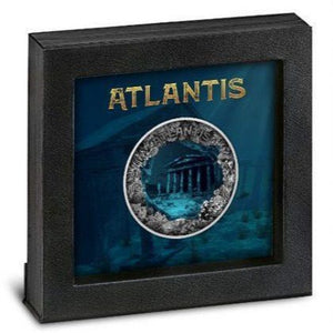 2019 Niue ATLANTIS - THE SUNKEN CITY Convex 2oz Silver Coin - RK