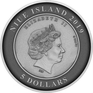 2019 Niue ATLANTIS - THE SUNKEN CITY Convex 2oz Silver Coin - RareKoin