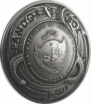2019 Palau Pandora's Box Evil Within 3oz Silver Coin - RareKoin