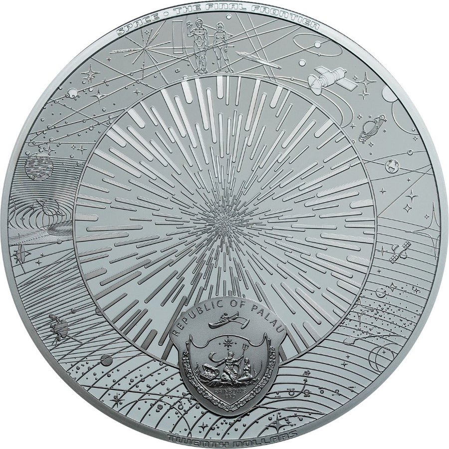 2019 Palau THE UNIVERSE Space - The Final Frontier 3oz Silver Black Proof Coin - RareKoin
