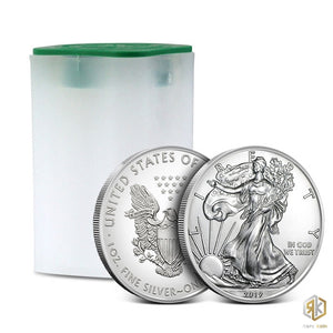 2019 American Silver Eagle Coin | Roll of 20 | Tube - RareKoin
