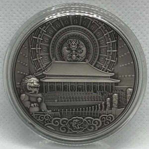 2019 Panda Temple of Heaven Silver Antique Coin - RareKoin