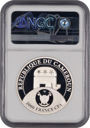 2020 Cameroon DONALD TRUMP All Together (PF70) 2oz Ultra Cameo High Relief Silver Coin - RareKoin