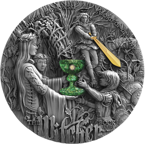 2020 Niue SWORD OF DESTINY - The Witcher 2oz Silver Antique Coin - RK