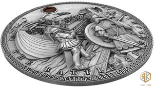 2020 Niue THE BATTLE OF SALAMIS Sea Battles 2oz Silver Antique Coin - RK