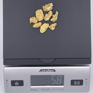 8 Piece Medium Alaska Gold Nugget Set - 58g Total - RK