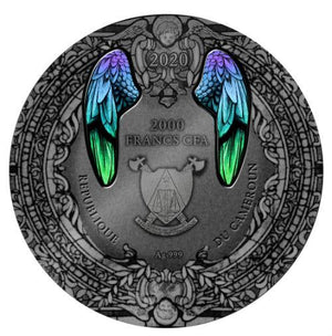 2020 Cameroon ARCHANGEL GABRIEL 2oz Silver Antique Coin - RareKoin