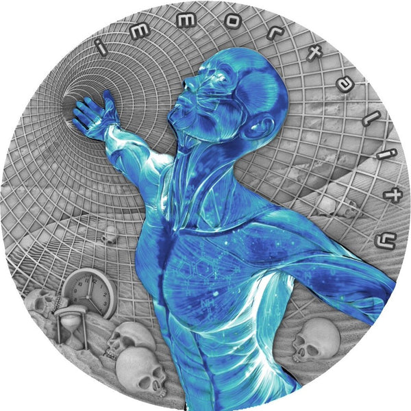 2018 Niue Island Immortality Code of the Future 2oz Silver Antique Coin - RareKoin