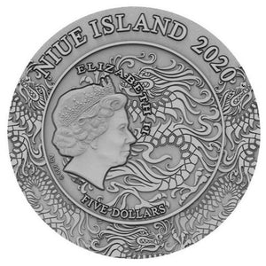 2020 Niue Island Lyu Bu Ancient Chinese Warriors 2oz Silver Antique Coin - RareKoin