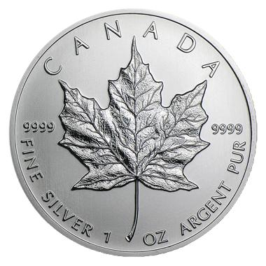 Canada 1 oz Silver Maple Leaf BU (Random Year) - RareKoin