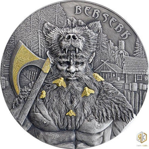 2019 Germania BERSERK - The Warriors 2oz Silver Antique Coin - RareKoin