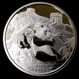 2020 Chinese Lunar Panda Classic Year of the Mouse Silver Proof OMP Coin - RK
