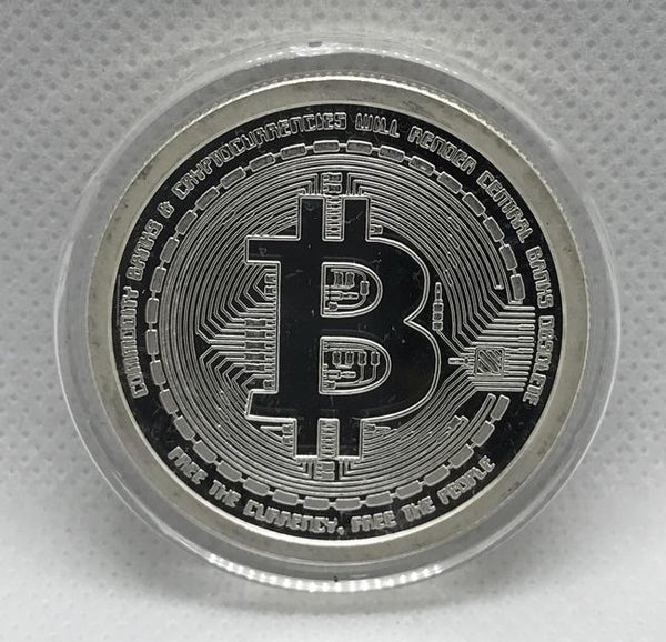 2012 Bitcoin Cryptocurrency 1oz .999 Fine Silver Proof AOCS Collector Coin - RareKoin