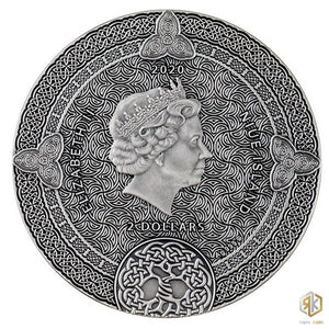 2020 Niue CELTIC CALENDAR 2oz Silver Antique Coin - RareKoin