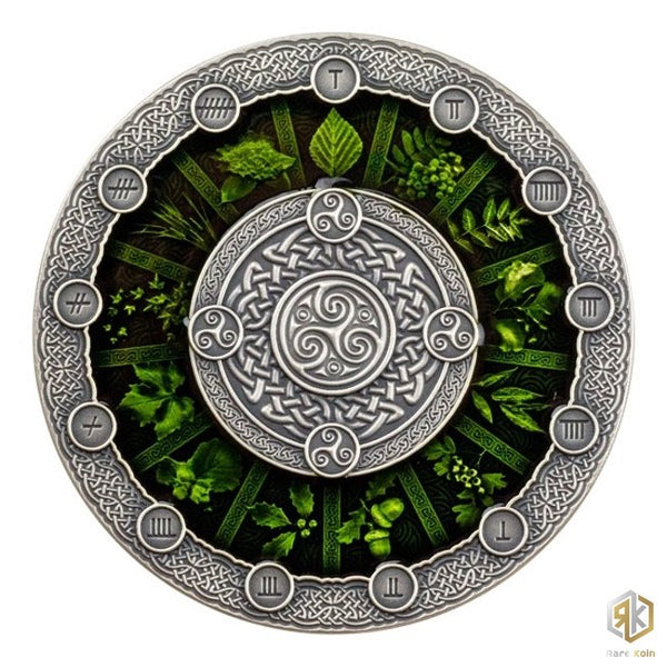 2020 Niue CELTIC CALENDAR 2oz Silver Antique Coin - RK