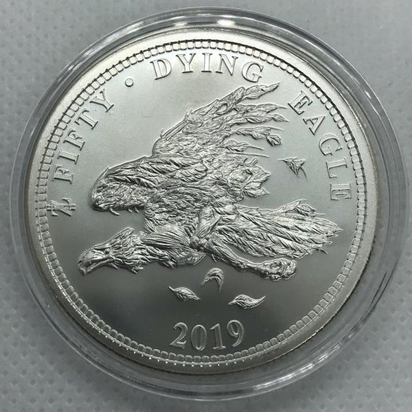 2019 ZOMBUCKS THE DYING EAGLE 1 OZ .999 FINE SILVER ROUND - RareKoin