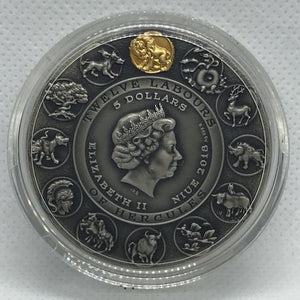 2018 Niue NEMEAN LION Twelve Labours of Hercules 2 Oz Silver Coin - RareKoin