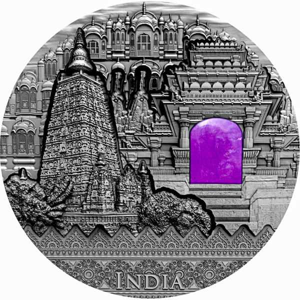 2020 Niue INDIA Imperial Art 2oz Silver Antique Coin - RK