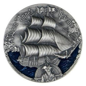 2019 Cameroon Queen Anne's Golden Age of Sail 2000 Francs Silver Coin - RareKoin