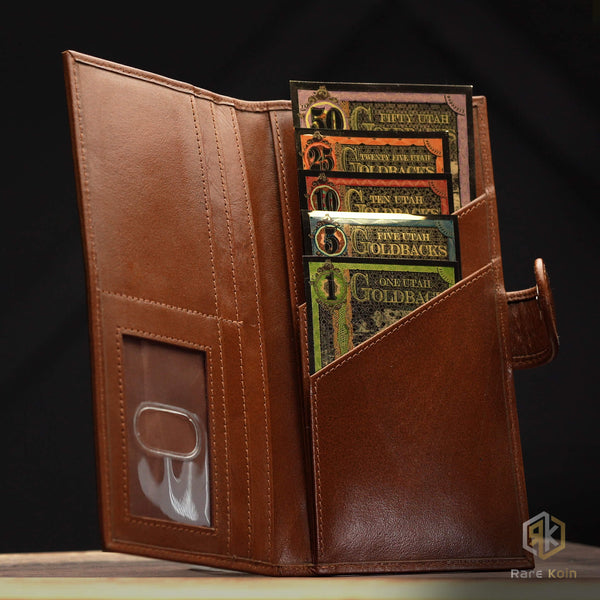 2020 NEVADA Goldback 100 Set & Custom Wallet - RareKoin
