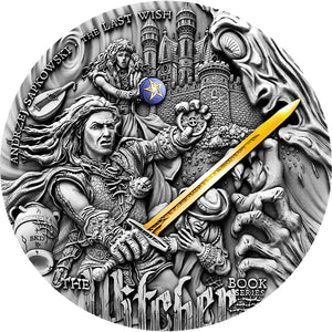 2019 Niue Island The Witcher Last Wish 2oz Silver Antique Coin - RK