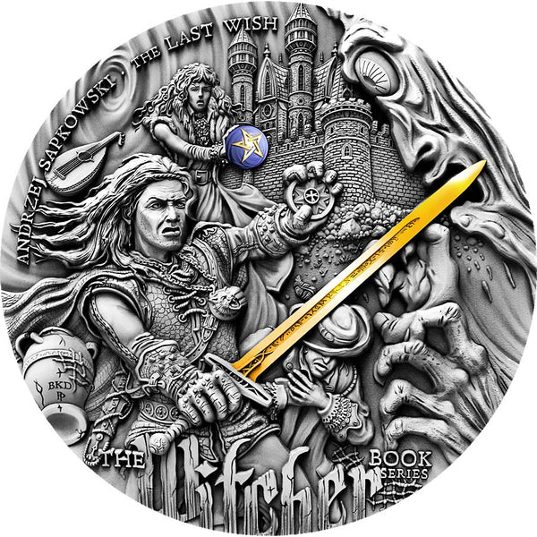 2019 Niue Island The Witcher Last Wish 2oz Silver Antique Coin - RareKoin