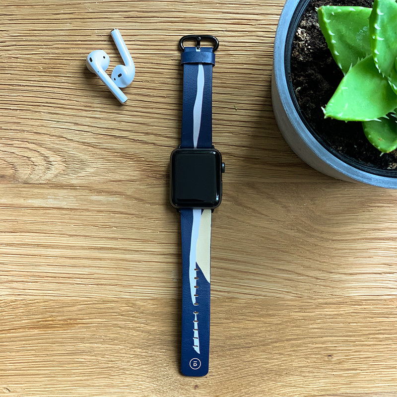 navy flame apple watch strap