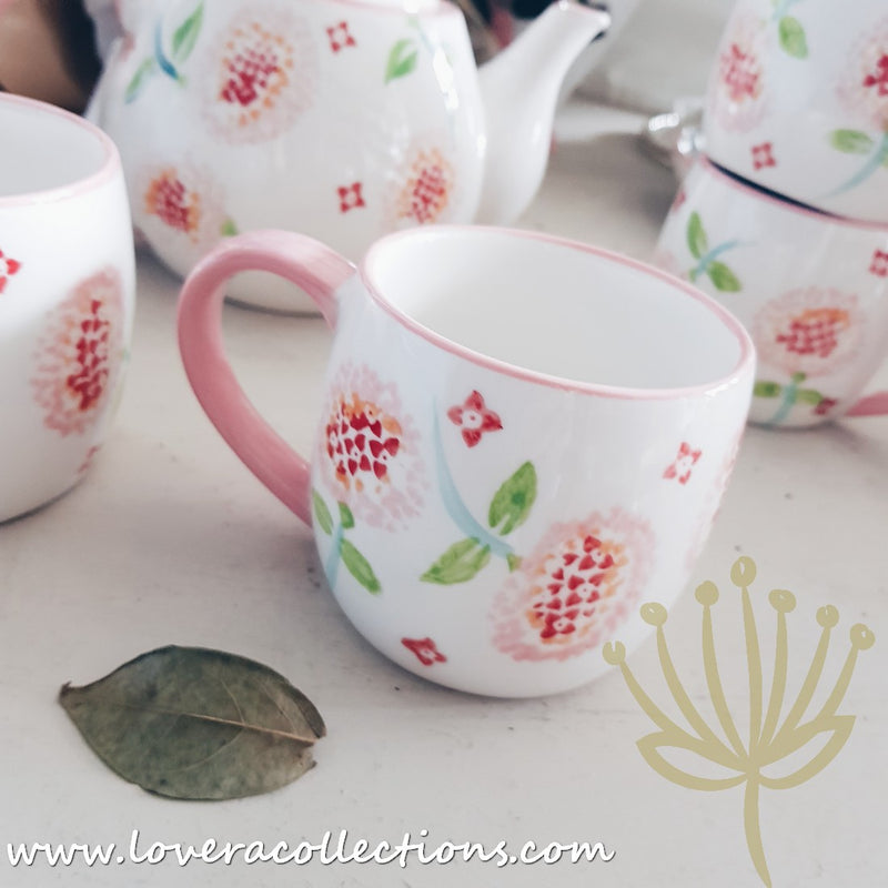 Handmade Pink Blossom Drinkware & Dinnerware Collection
