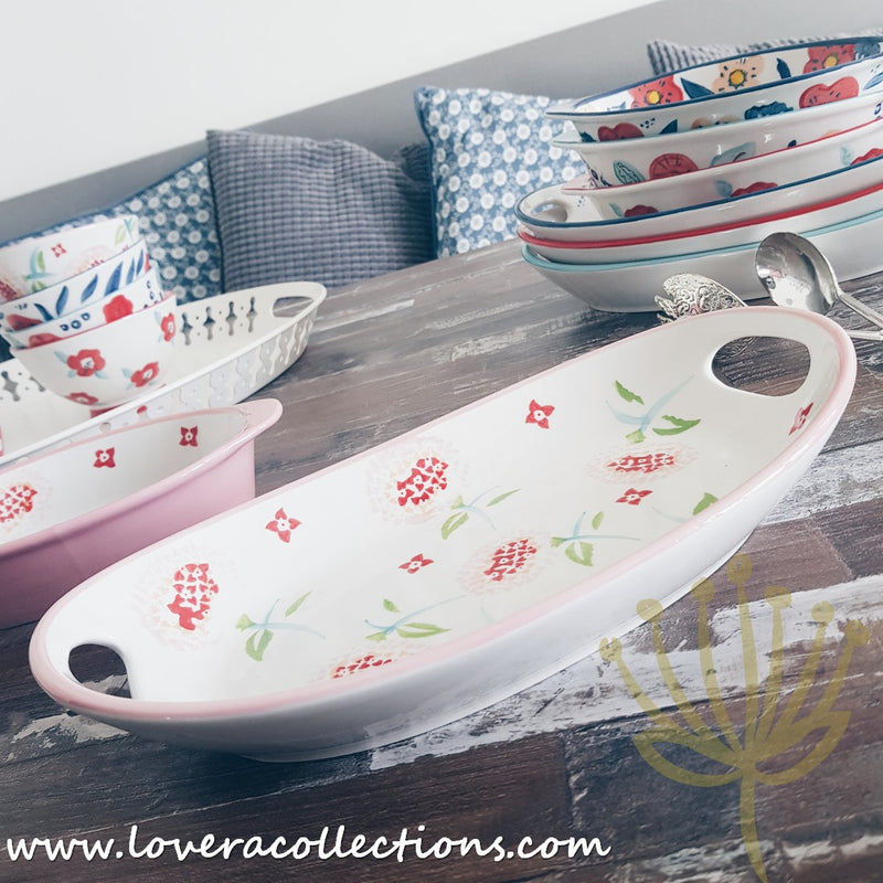 Handmade Assorted Prints Oval Baking Dishes & Trays