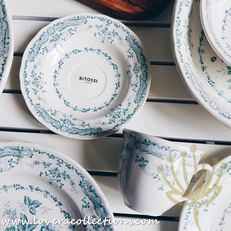 *BUY 1 FREE 1 PROMO* Bitossi Italy Rose Turquoise Dinnerware & Drinkware Collection