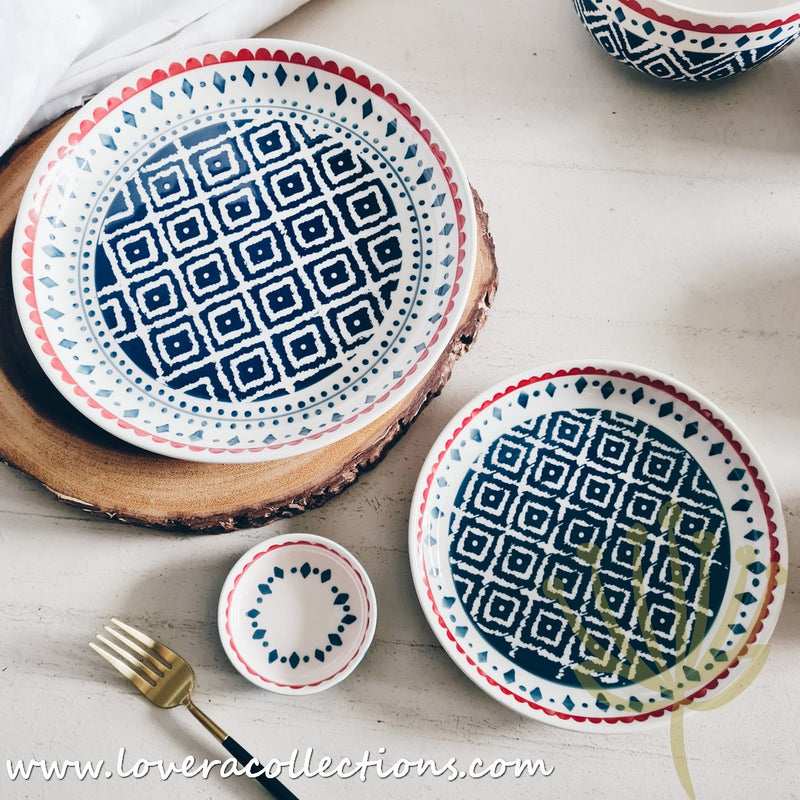 Blue Tribal Dinnerware Collection