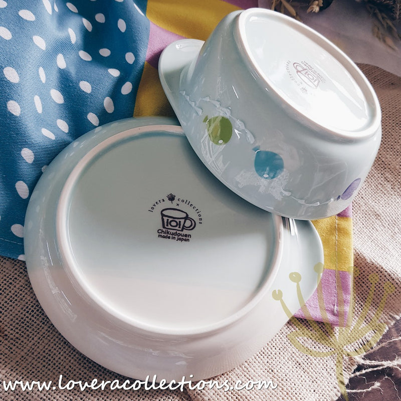 Chikudouen x Lovera Blue Balloon Children Dinnerware Gift Sets